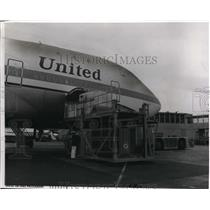 1974 Press Photo The Boeing 747 where the United's LTL container is being loaded