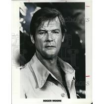 Undated Press Photo Roger Moore Actor