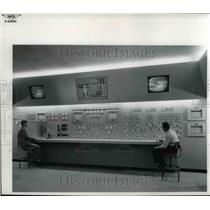 1956 Press Photo ewis Unitary Plan Wind Tunnel Control Panels in Control room