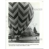 1984 Press Photo Hot air balloons for 41st annual Cleveland Home & Flower Show