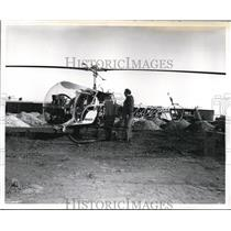 1960 Press Photo A37 Helicopter from Bell Helicopter Company - nee05490
