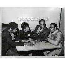 1971 Press Photo Ohio Civil Rights people at a meeting