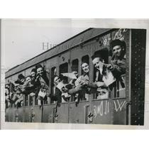 1935 Press Photo Wounded Veterans leave Rome to help Italian Armies Ethiopia