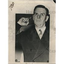 1938 Press Photo U.S. District Attorney Maurice M. Milligan - nee04577