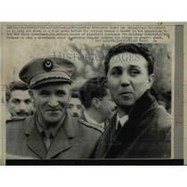 1963 Press Photo Algerian Pres. Ahmed Ben Bella & Col. MohandOu El Hadj