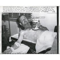 1961 Press Photo Ramon C Miller 1 legged man found half starved in Mojave desert