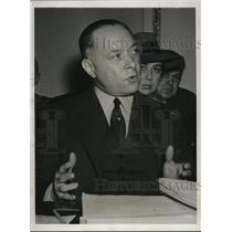 1940 Press Photo David M. Sarnoff Testifies Before Interstate Sub-Committee