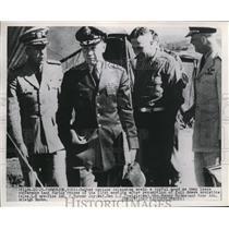 1961 Press Photo UN Delegate Vice Adm C Turner Joy, Gen LC Craigie, Major Hodes