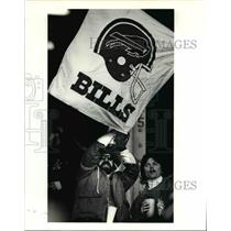 1990 Press Photo Buffalo fans had their minutes of glory from the end zone seats