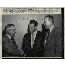 1956 Press Photo Dick Sisler and bill McCarthy - nee03156