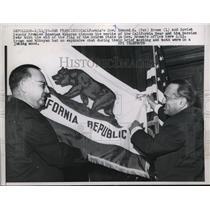 1959 Press Photo Governor Edmund Pat Brown & Soviet Leader Anastas Mikoyan