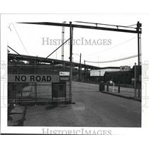 1986 Press Photo View of Gate at LTV Steel Co.