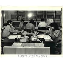 1984 Press Photo L. Yohey, C. Ploughy, C. Rini, N. Vaccaro, M. Ricchiuto