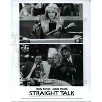 1992 Press Photo Dolly Parton & James Woods in Straight Talk - cvp76295