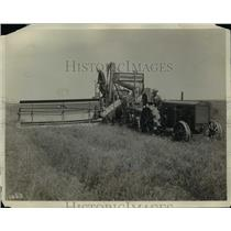 1931 Press Photo Harvester Combine Built in Battle Creek, Michigan