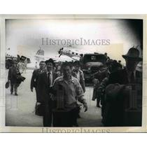 1950 Press Photo Invasion soldier at Itazuko air base Japan for South Korea