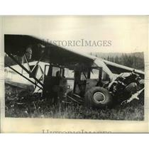 1934 Press Photo Flyers crashed in Canadian wilds in N British Columbia