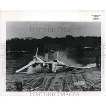 1953 Press Photo Wreckage of a plane crash