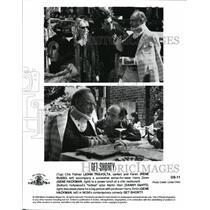 "1995 Press Photo John Travolta Rene Russo Gene Hakman Danny DeVito ""Get Shorty"""