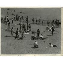 1936 Press Photo White city beach