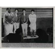 1953 Press Photo Daniel Suarez and Eddie Hugh Bara - nee03158