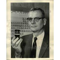 1957 Press Photo Dr W H Schechter with HiCal Fuel by Callery Chemical Pittsburgh