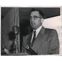 1953 Press Photo Art Mauch of Michigan State College Addresses Farm Bureau