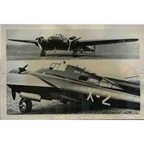 1940 Press Photo Fokker G.I. Bomber Plane