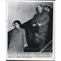 1950 Press Photo  Manchester NH Dr Hermann Sander & wife at mercy death trial