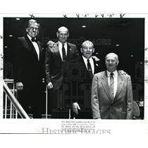1988 Press Photo Chet Makoski, Jack Sheinkman, William W. Winpinsinger