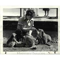 1984 Press Photo Cleveland Metroparks Zoo