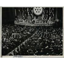 1938 Press Photo Rotary International's plenary session held in California.