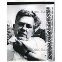 1959 Press Photo Governor Robert B Meyner Chestnut Hill Massachusetts