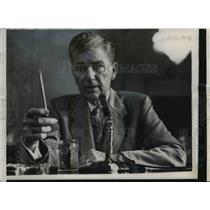 1957 Press Photo Racketeer James B Elkind Witness in Senate Rackets Investigatio