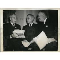 1942 Press Photo Mayor Cornelius Scully, Mayor John Gage & Mayor Fletcher Bowron