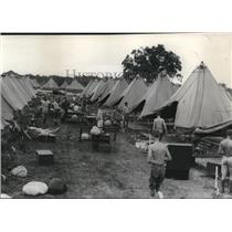 Undated Press Photo Ohio National guards at Camp Perry.