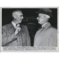 1952 Press Photo Defense Mobilizer John R Steelman & Sec of Commerce Sawyer
