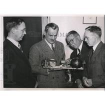 1939 Press Photo Dr Bertil Lindblad, Dr Arthur H Compton, Charles Stilwell