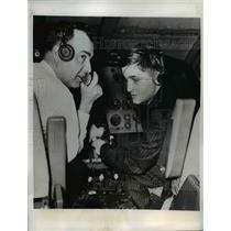 1961 Press Photo Gale Schreiber Age 13, Blind Student & Pilot HM McClimas