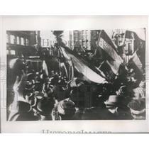 1941 Press Photo Street Demonstration in Belgrade - nee01753