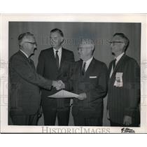 1967 Press Photo Lyle E. Holmgren, Robert A. Burgin, Phillip W. Porter