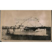 1918 Press Photo Steel Concrete Sea Going Vessel