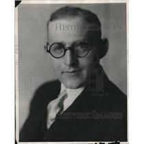 1929 Press Photo Alfred Marchey President Of Temple Corporation