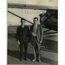 1930 Press Photo Harold Bromley and Harold Gatty