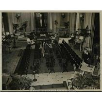 1942 Press Photo Wash Dc Presidents reception room at Union Station