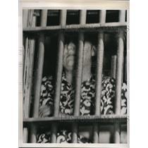 1938 Press Photo Lexington NC Lula Kimel jailer at Davidson Co now locked up