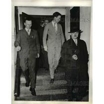 1935 Press Photo Aviator Charles A. Lindbergh at Hauptmann Trial