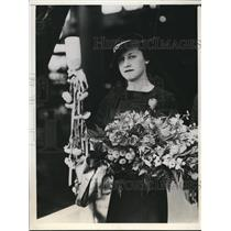 1934 Press Photo Ms.Kathleen Leary attended the launch of Coast Guard Cutter