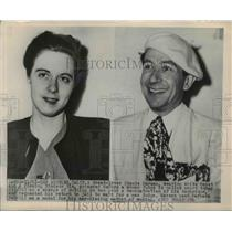 1948 Press Photo Claude Marsan before a woman judge Los Aneles, California