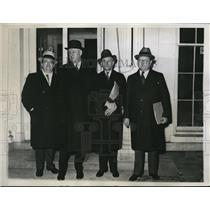 1934 Press Photo William Howes, James A. Farley, Harllee Branch, Carl Crowley
